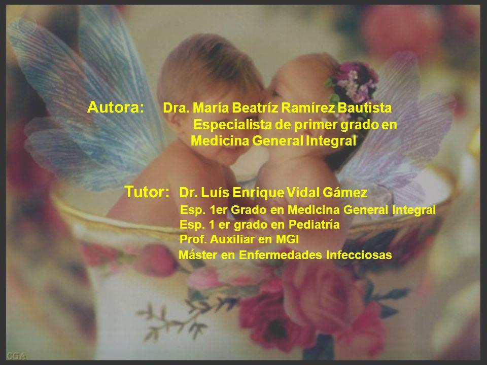 Autora: Dra. María Beatríz Ramírez Bautista