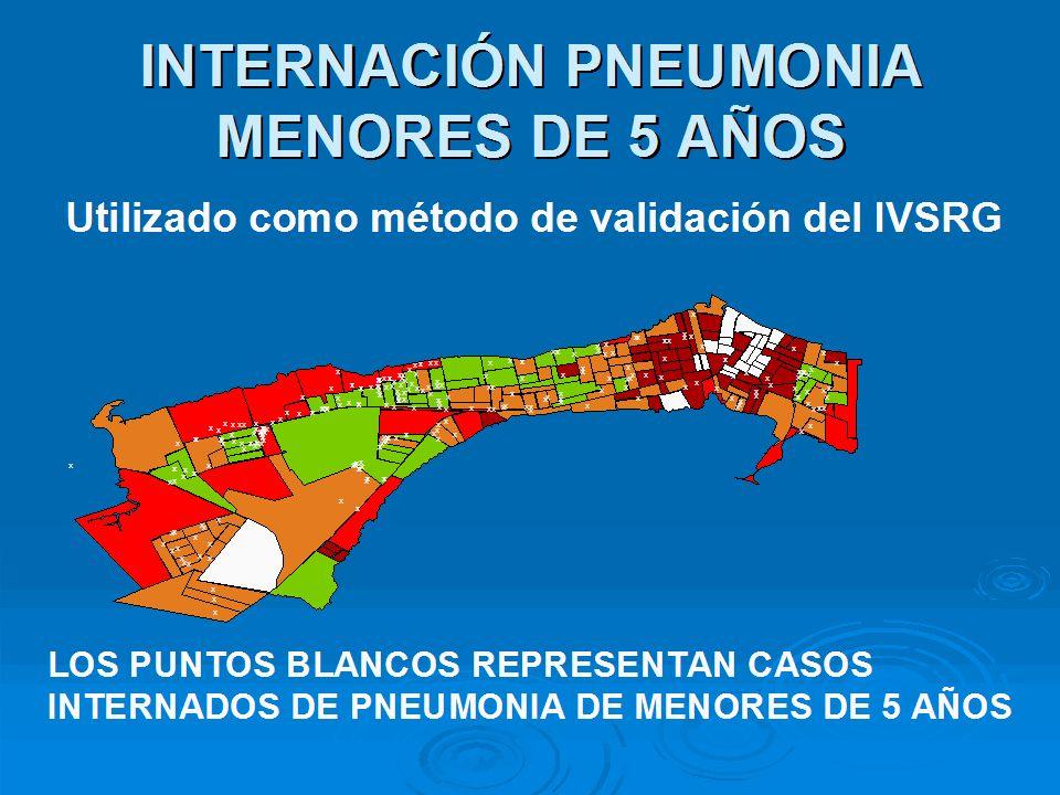 INTERNACIÓN PNEUMONIA MENORES DE 5 AÑOS