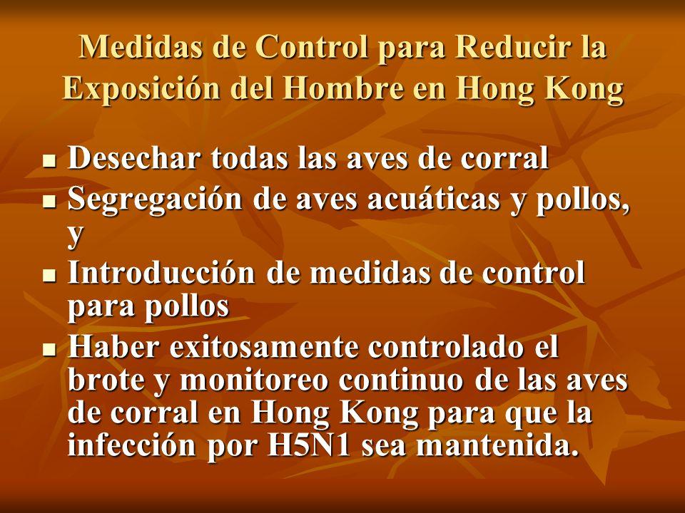 Medidas de Control para Reducir la Exposición del Hombre en Hong Kong