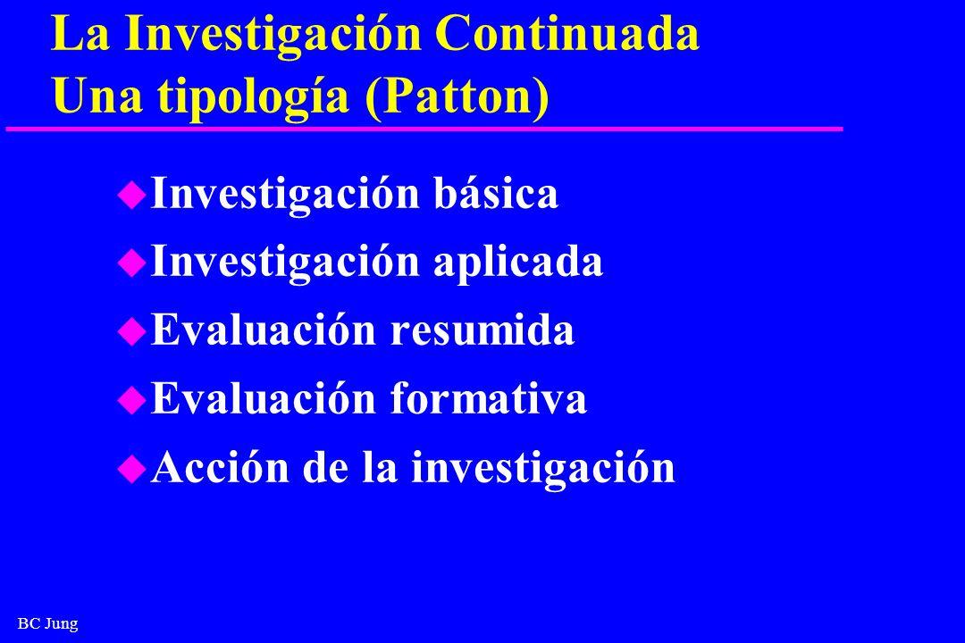 La Investigación Continuada Una tipología (Patton)
