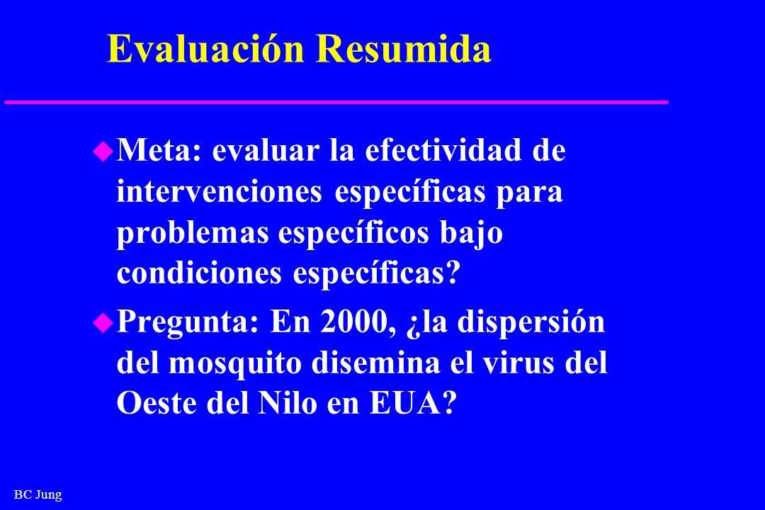 Evaluación Resumida Meta: evaluar la efectividad de intervenciones específicas para problemas específicos bajo condiciones específicas