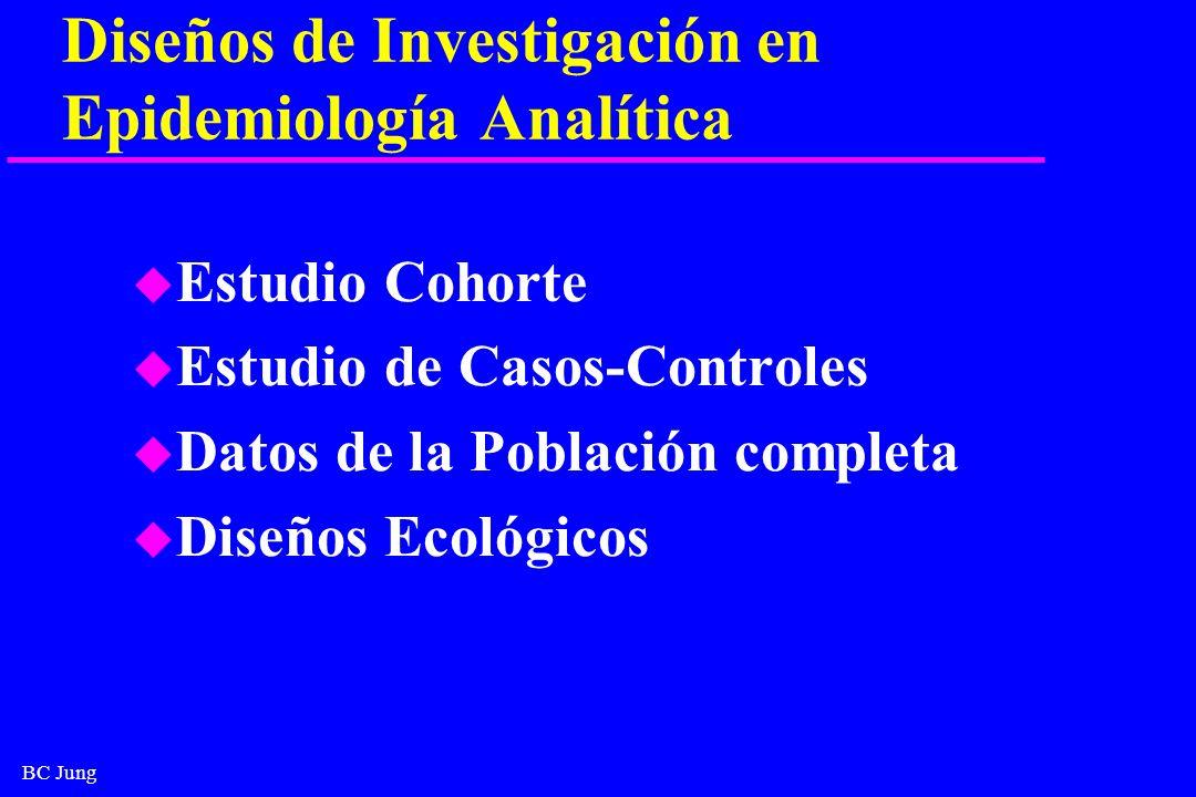 Diseños de Investigación en Epidemiología Analítica