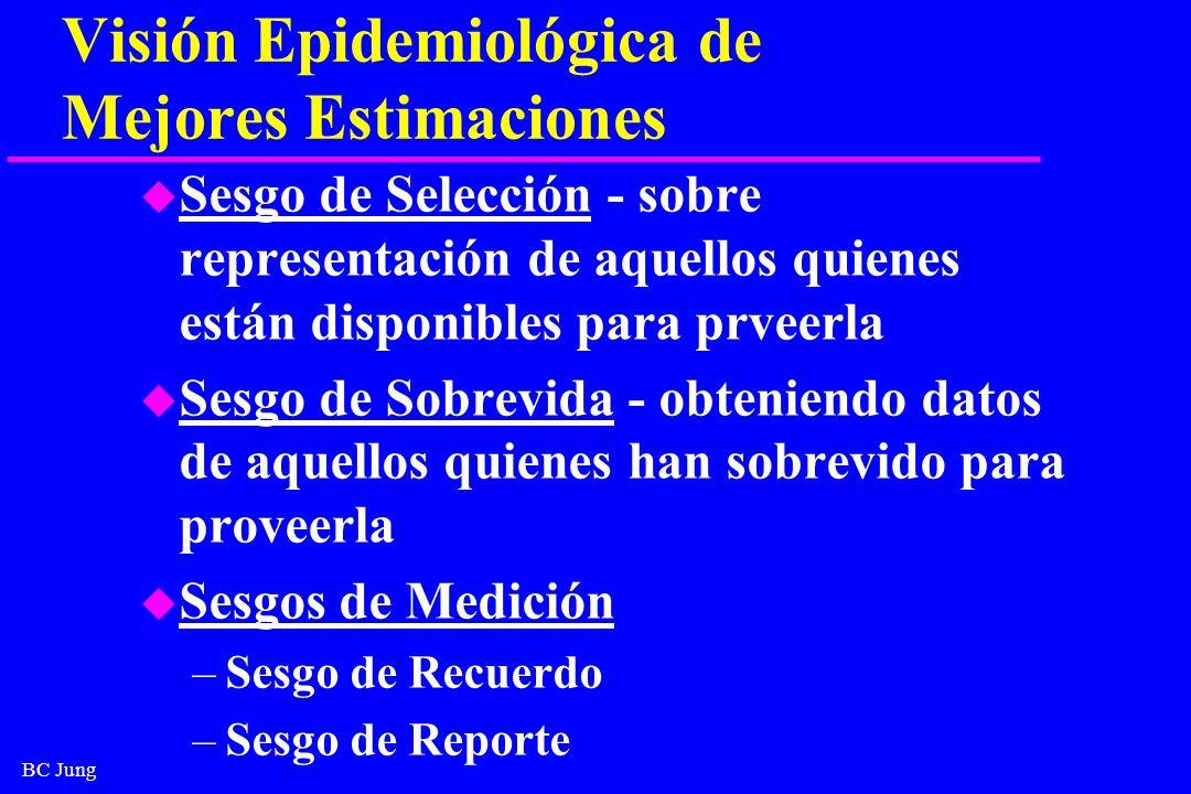 Visión Epidemiológica de Mejores Estimaciones