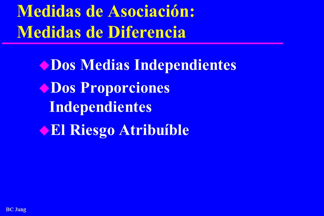 Medidas de Asociación: Medidas de Diferencia