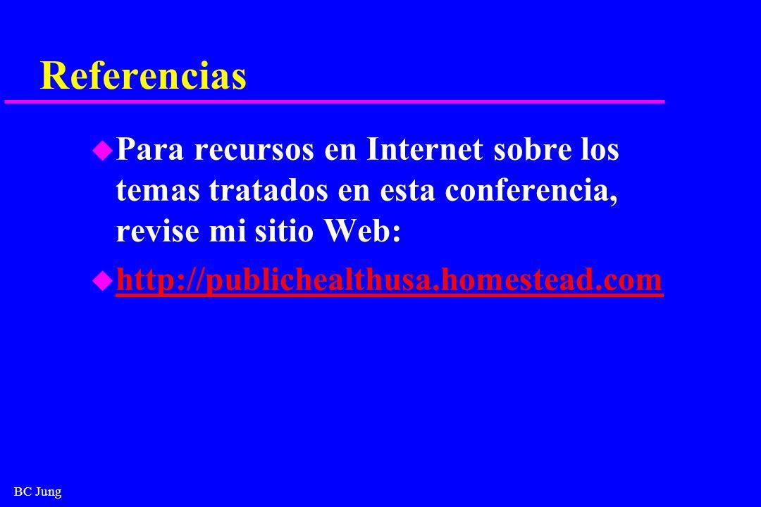 ReferenciasPara recursos en Internet sobre los temas tratados en esta conferencia, revise mi sitio Web: