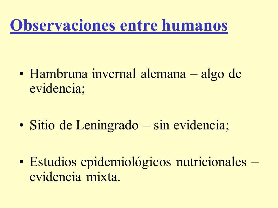 Observaciones entre humanos