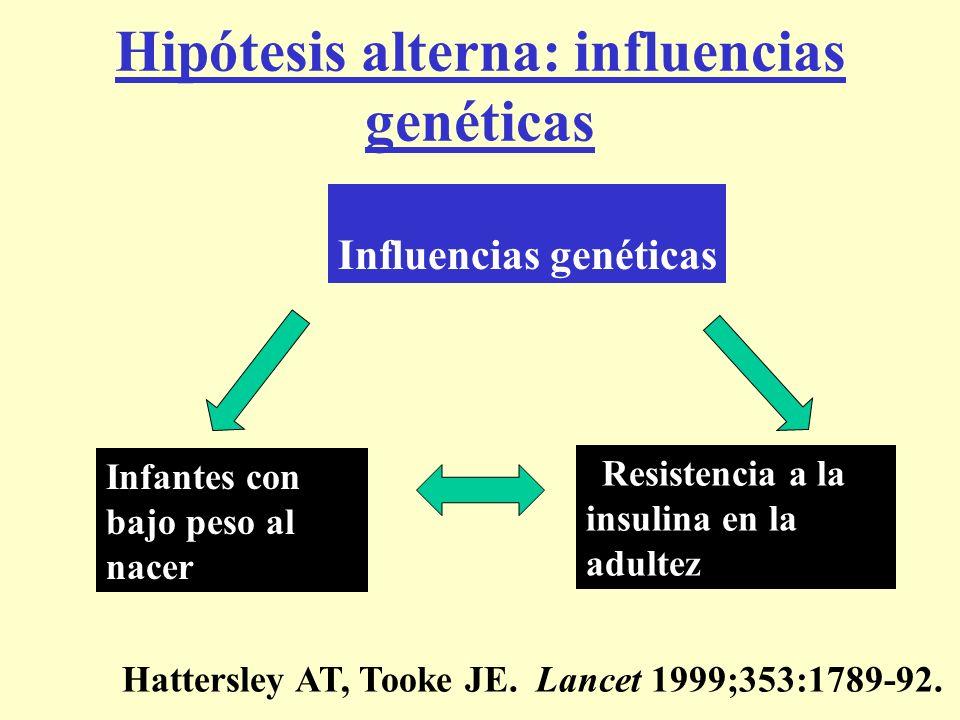 Hipótesis alterna: influencias genéticas