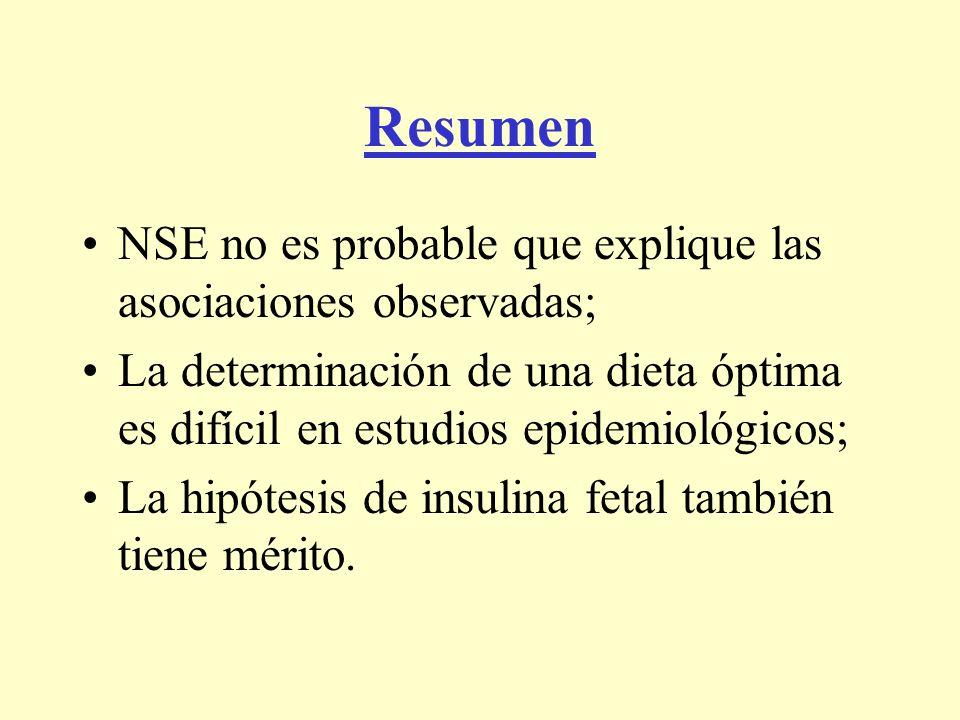 Resumen NSE no es probable que explique las asociaciones observadas;