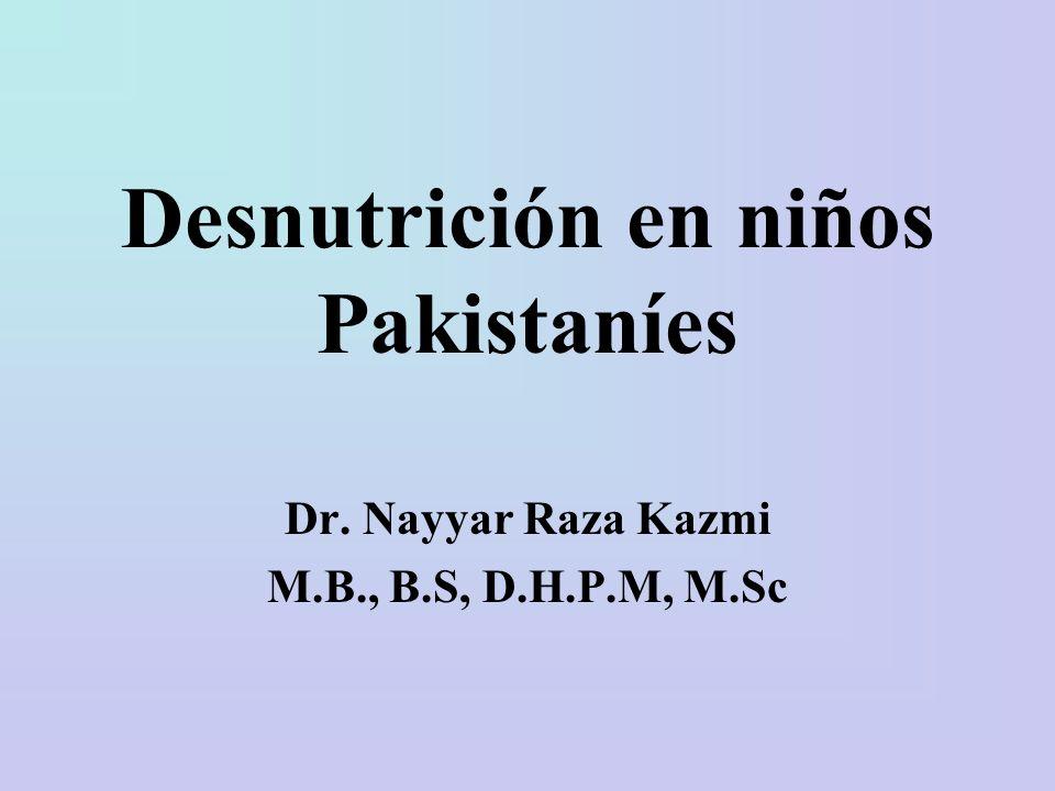 Desnutrición en niños Pakistaníes