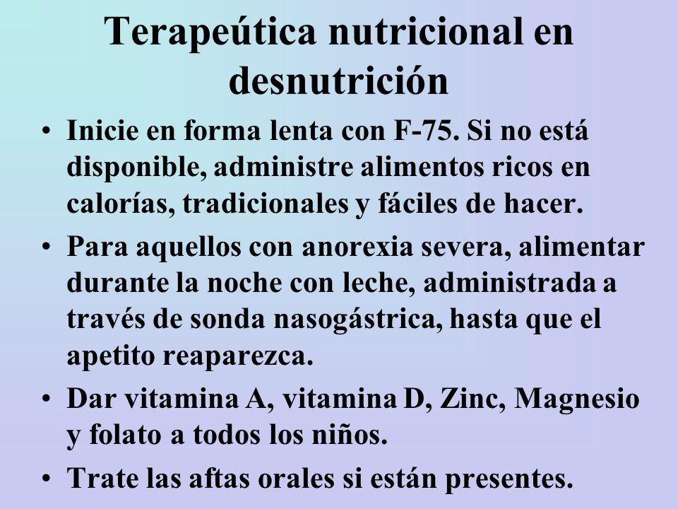 Terapeútica nutricional en desnutrición