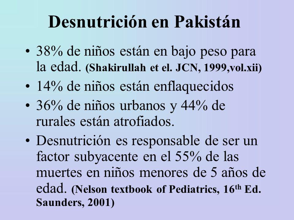 Desnutrición en Pakistán