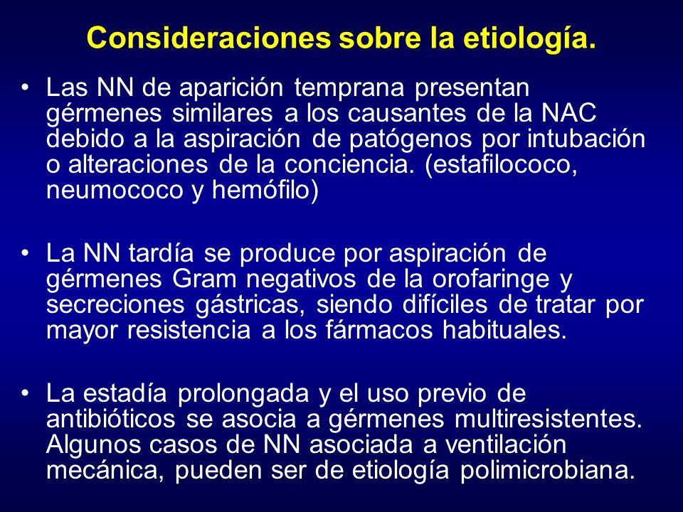 Consideraciones sobre la etiología.