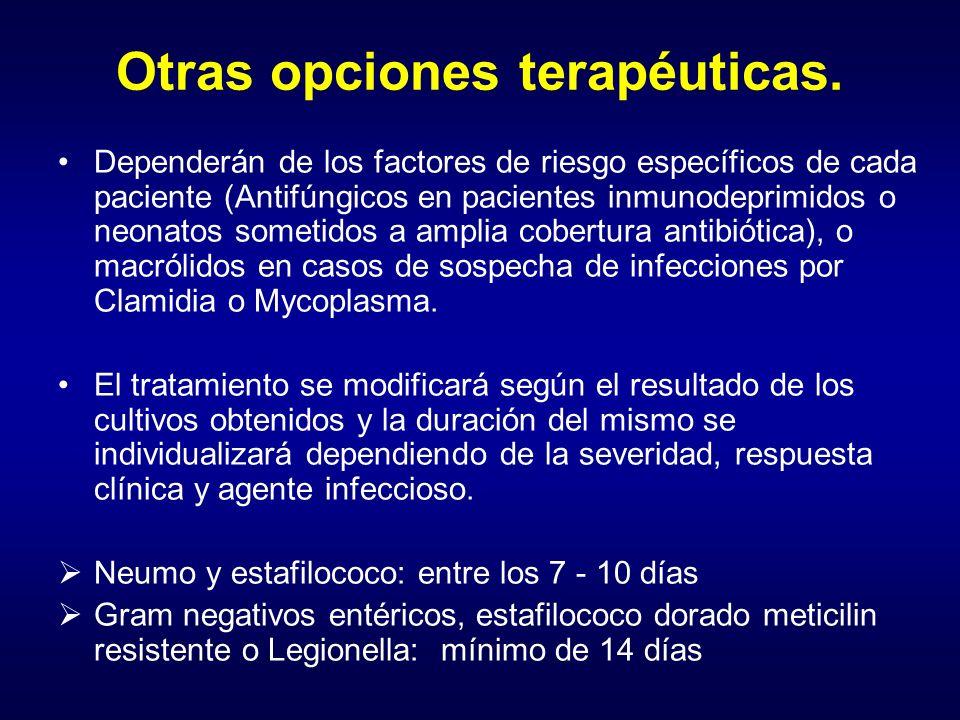 Otras opciones terapéuticas.
