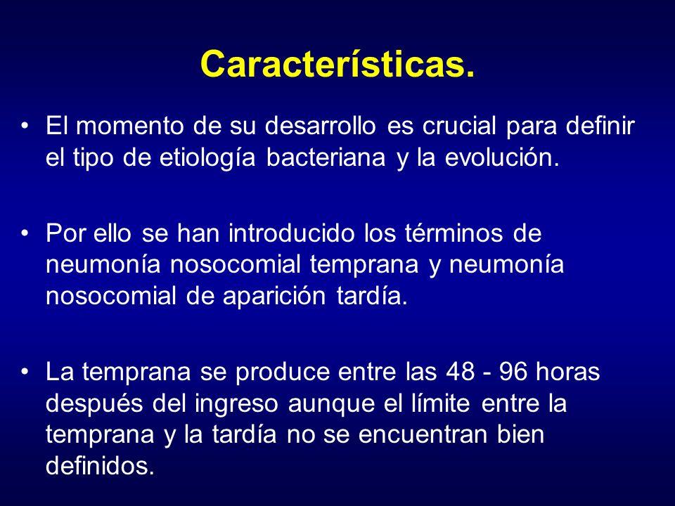 Características. El momento de su desarrollo es crucial para definir el tipo de etiología bacteriana y la evolución.