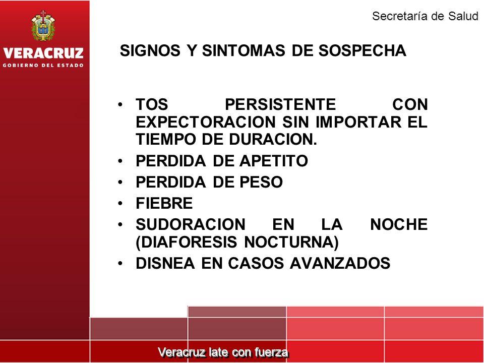 SIGNOS Y SINTOMAS DE SOSPECHA