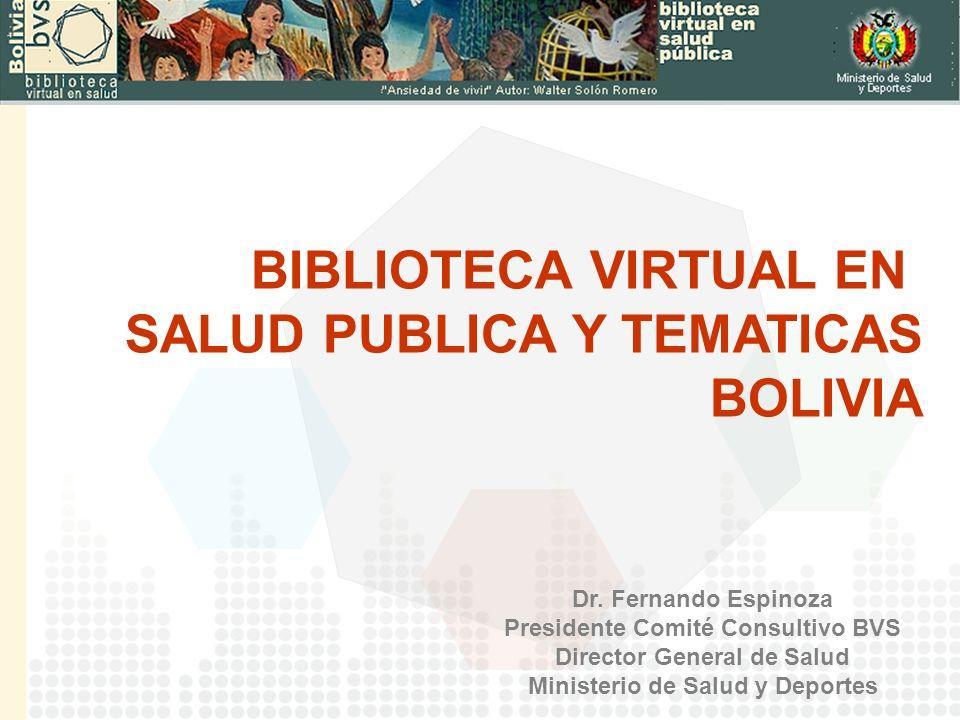 SALUD PUBLICA Y TEMATICAS BOLIVIA