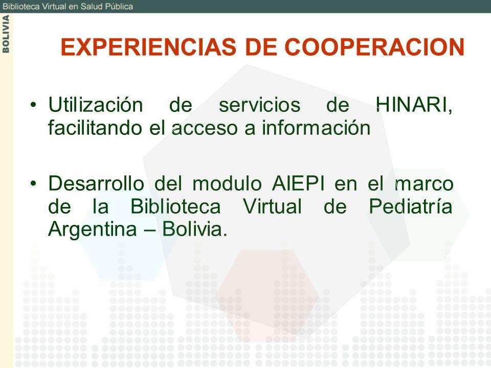 EXPERIENCIAS DE COOPERACION