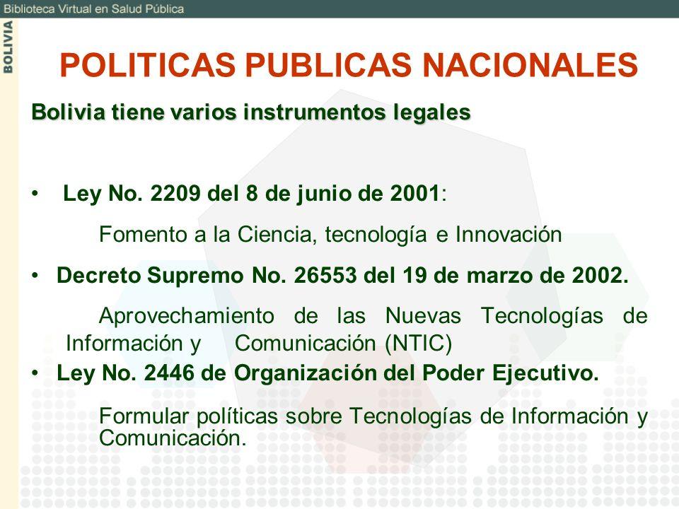 POLITICAS PUBLICAS NACIONALES