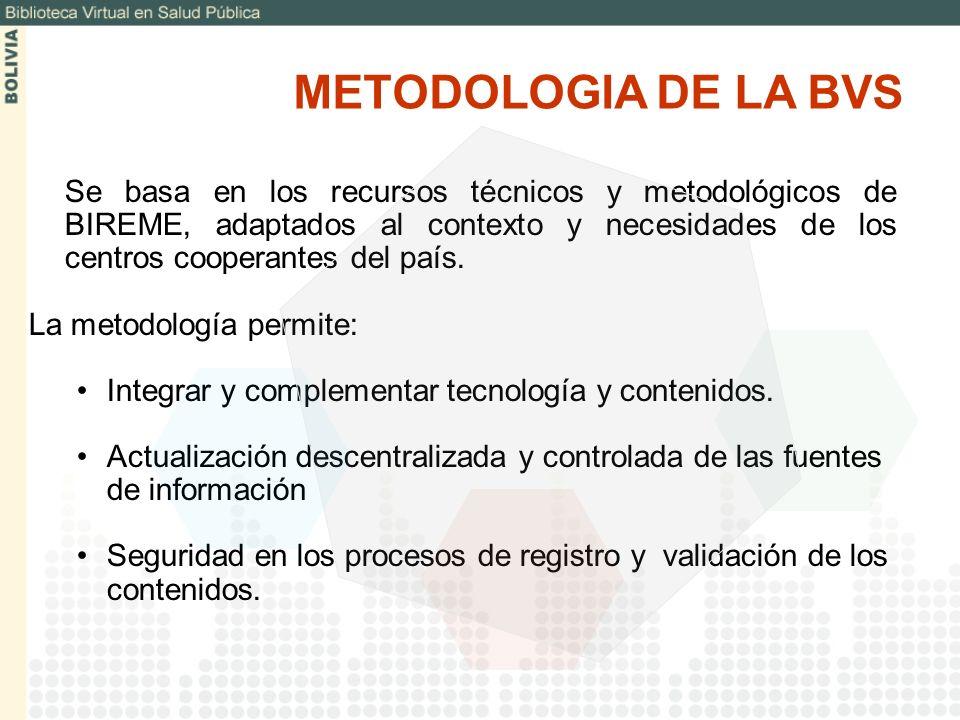 METODOLOGIA DE LA BVS