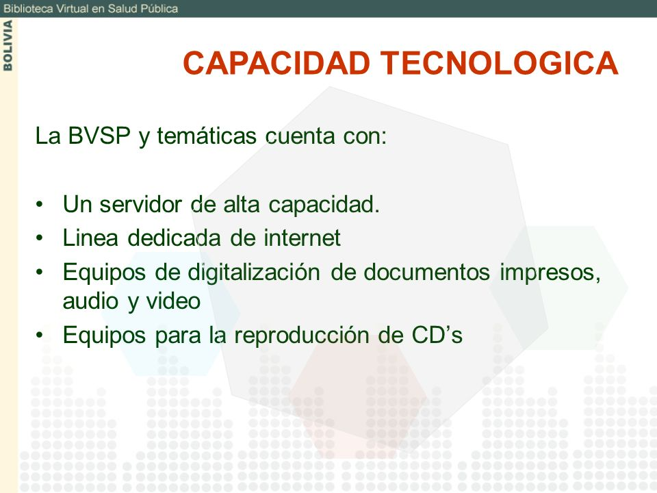 CAPACIDAD TECNOLOGICA