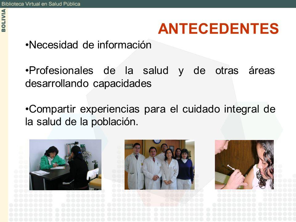 ANTECEDENTES Necesidad de información