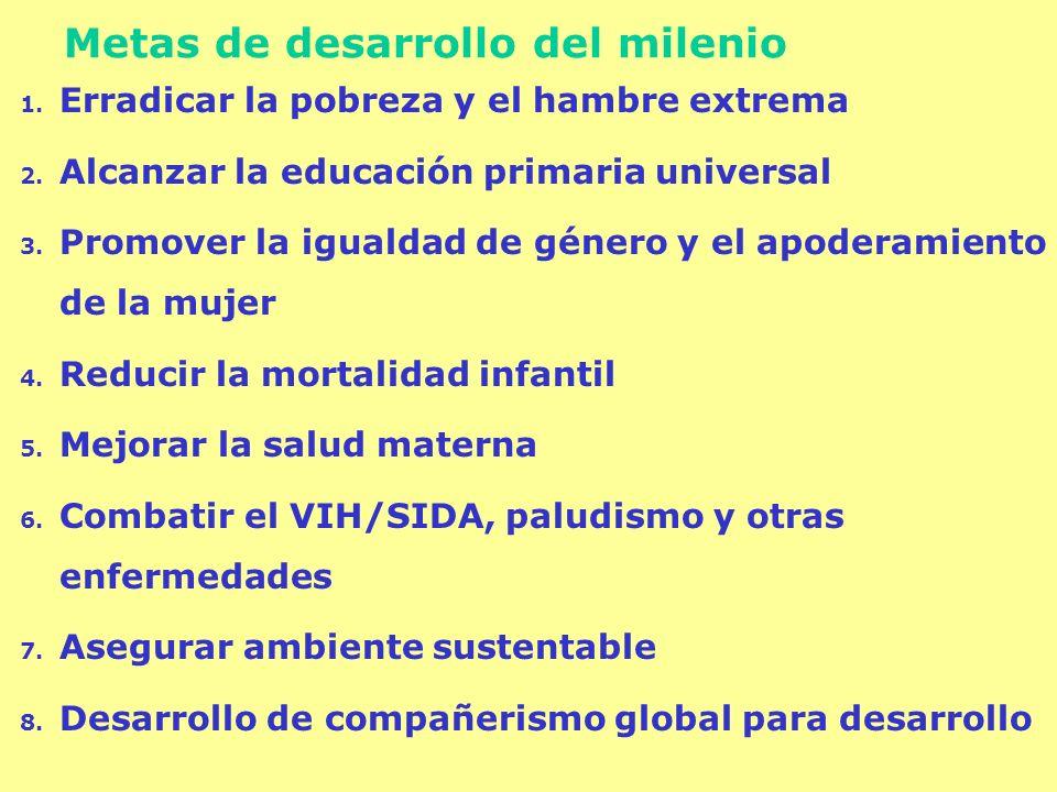 Metas de desarrollo del milenio