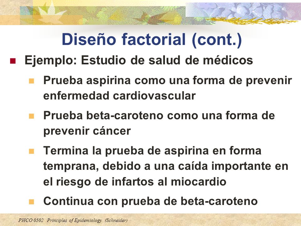 Diseño factorial (cont.)