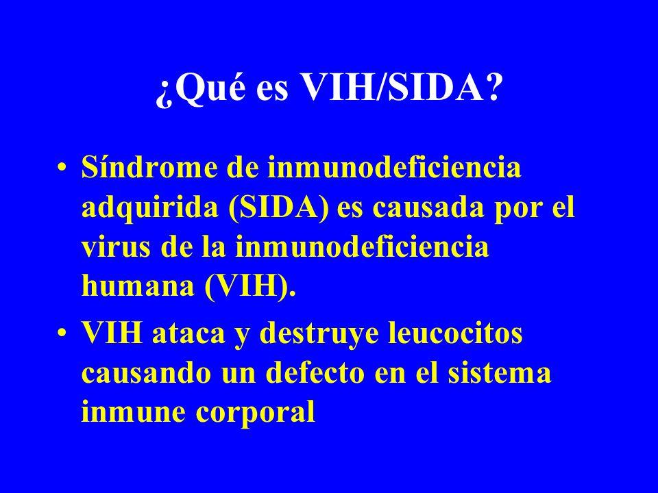 ¿Qué es VIH/SIDA Síndrome de inmunodeficiencia adquirida (SIDA) es causada por el virus de la inmunodeficiencia humana (VIH).