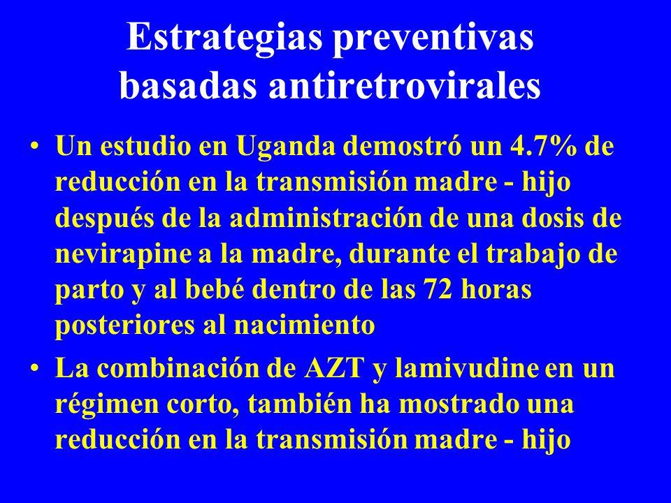 Estrategias preventivas basadas antiretrovirales