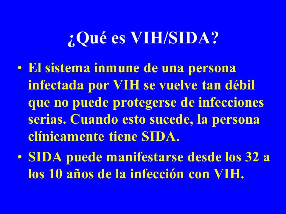 ¿Qué es VIH/SIDA