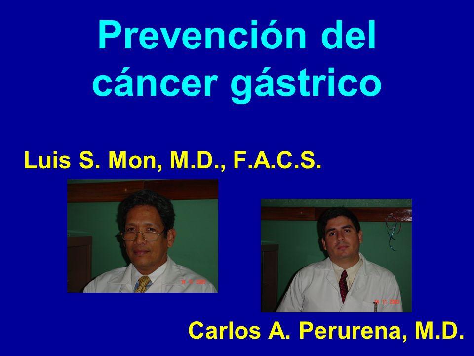 Prevención del cáncer gástrico