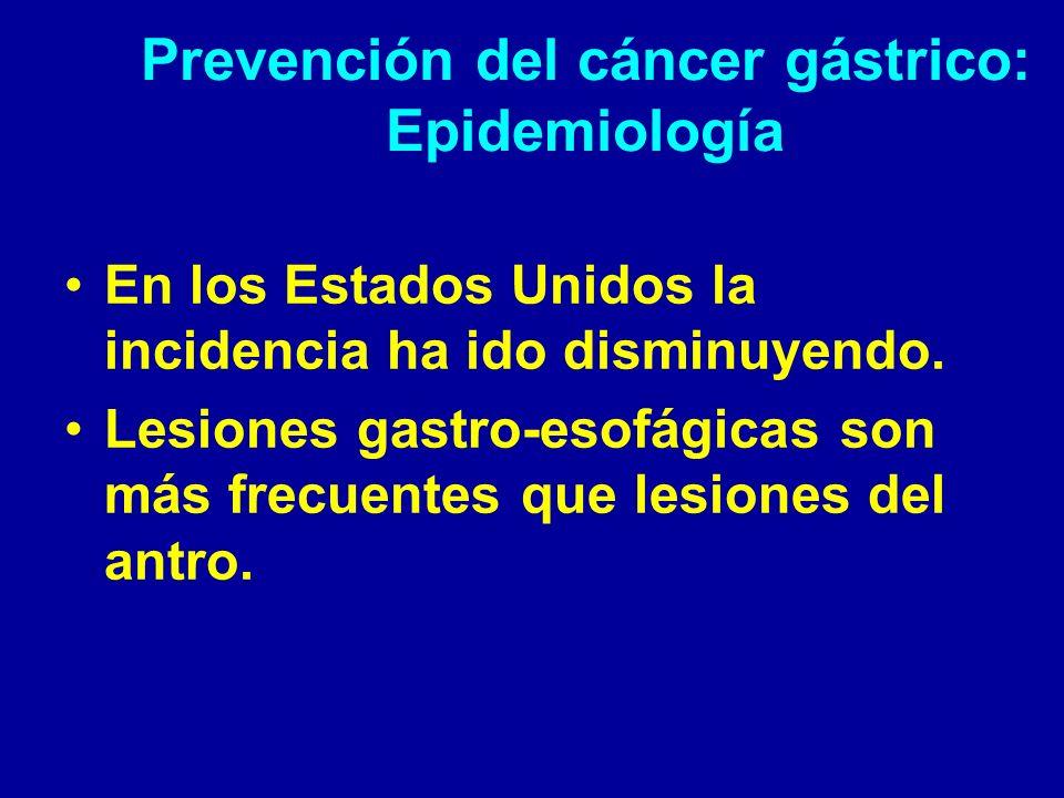 Prevención del cáncer gástrico: Epidemiología
