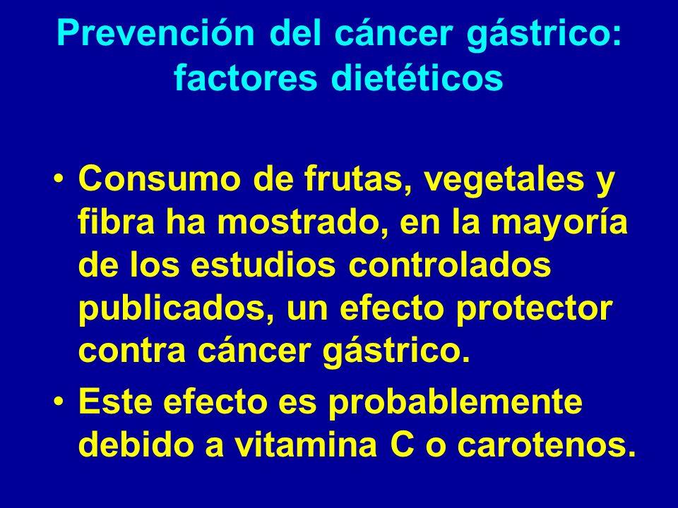 Prevención del cáncer gástrico: factores dietéticos