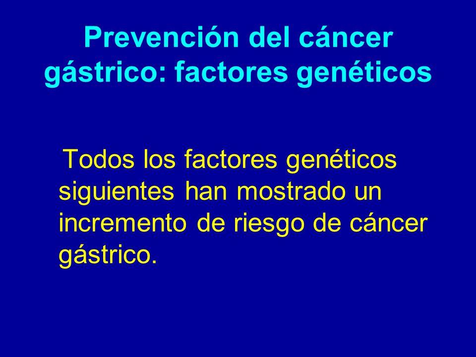 Prevención del cáncer gástrico: factores genéticos