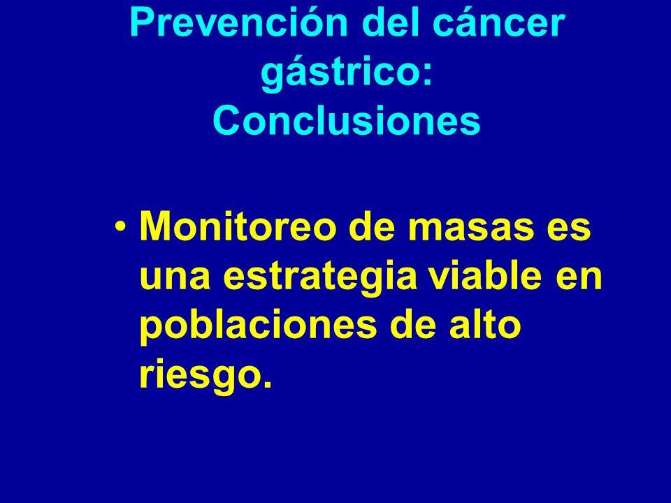 Prevención del cáncer gástrico: Conclusiones