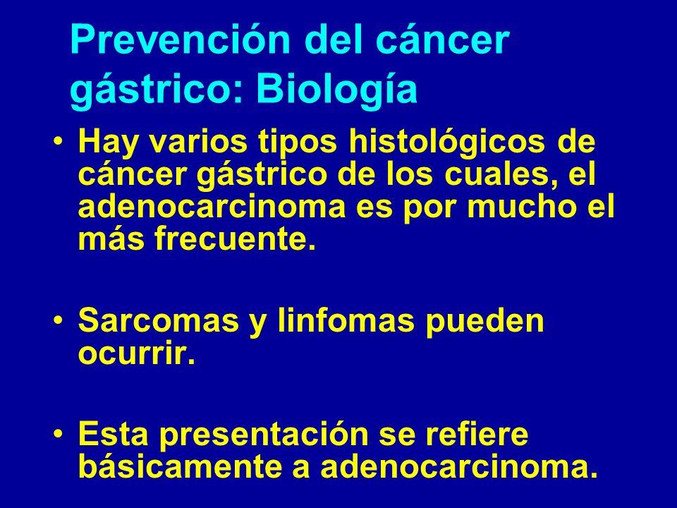 Prevención del cáncer gástrico: Biología