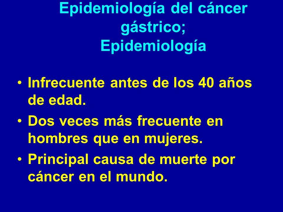 Epidemiología del cáncer gástrico; Epidemiología