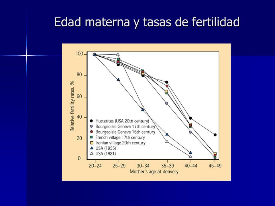 Edad materna y tasas de fertilidad