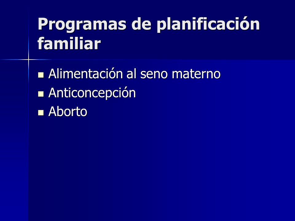 Programas de planificación familiar