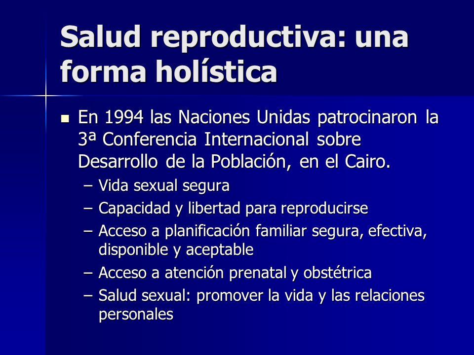 Salud reproductiva: una forma holística