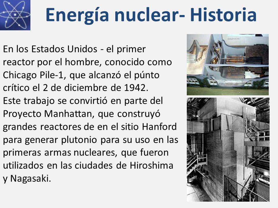 Energía nuclear- Historia