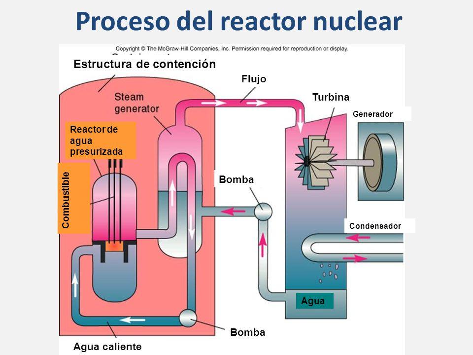 Proceso del reactor nuclear