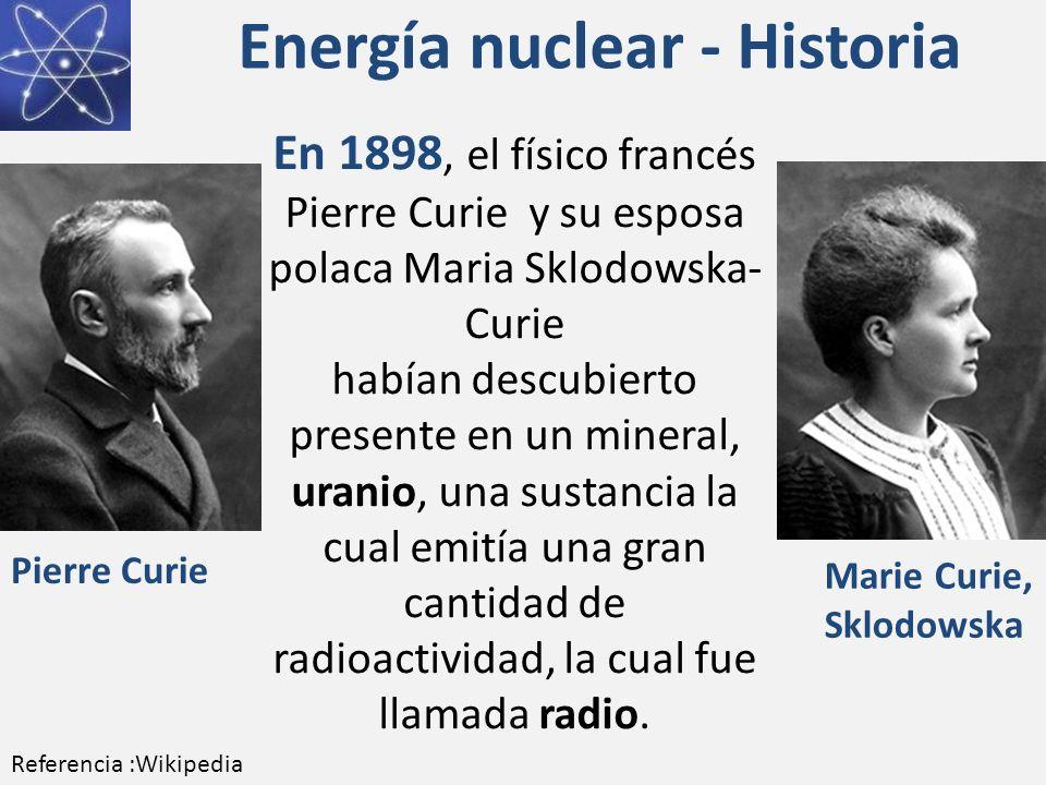 Energía nuclear - Historia