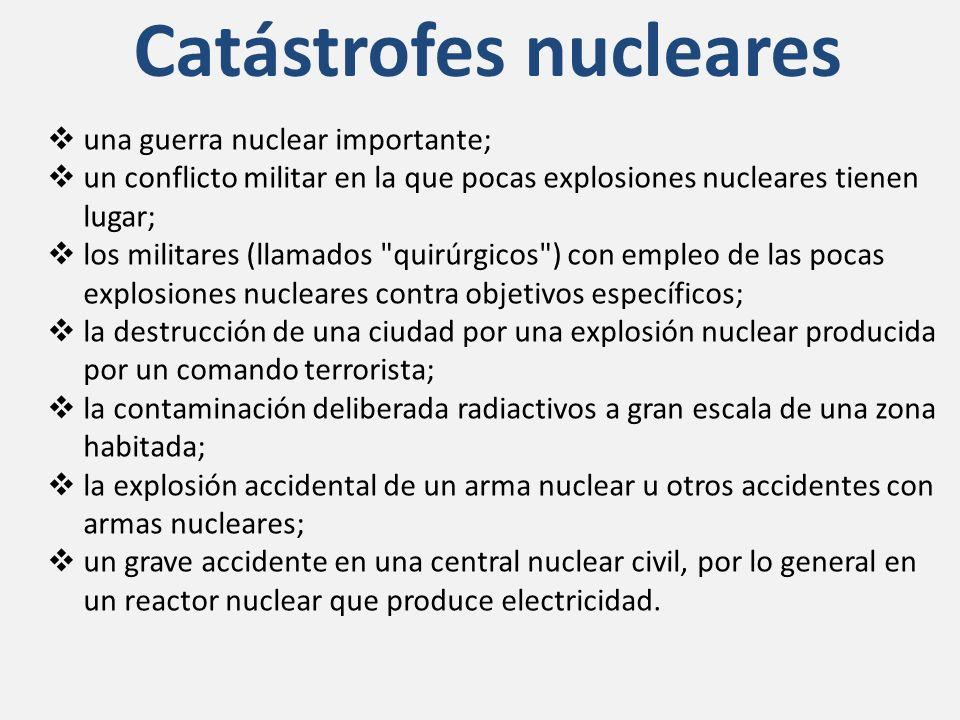Catástrofes nucleares