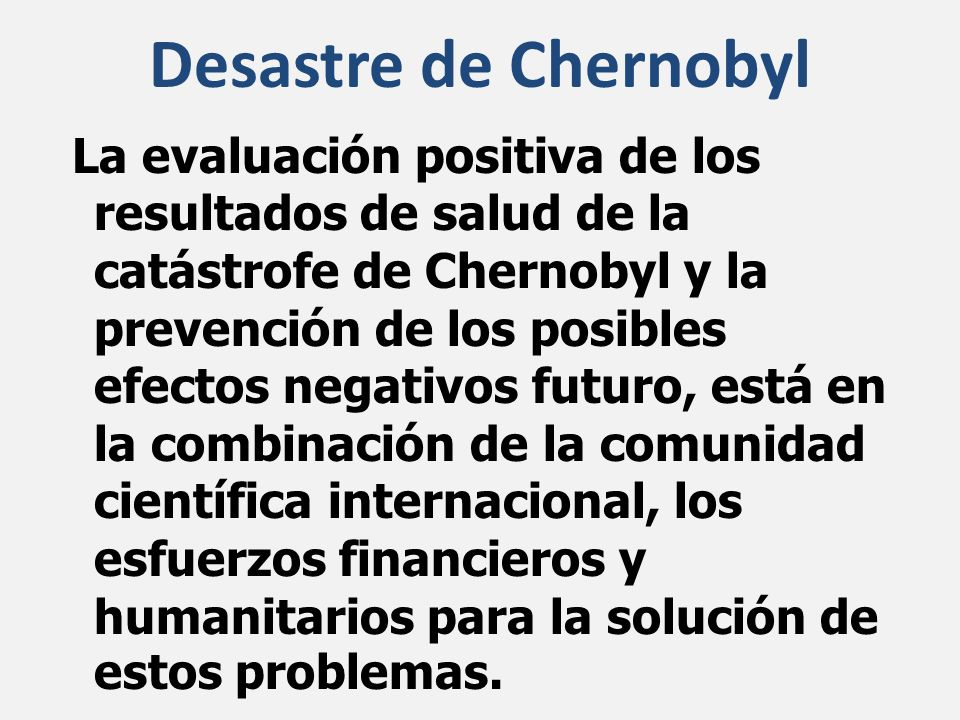 Desastre de Chernobyl