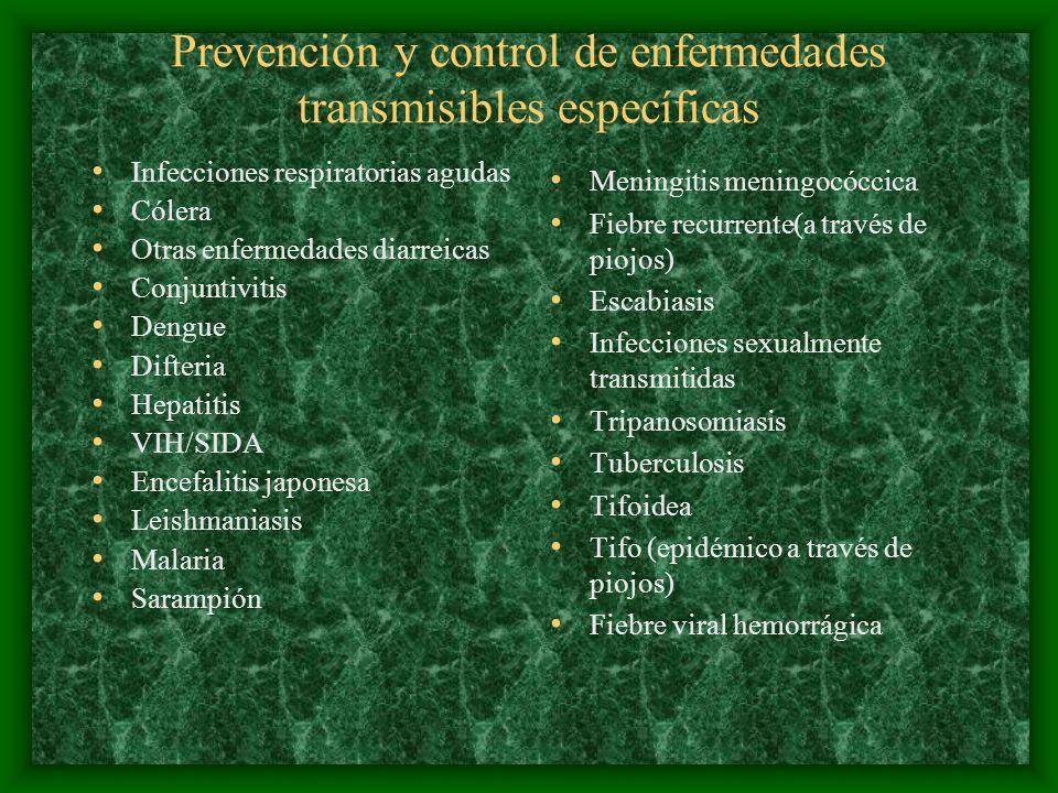 Prevención y control de enfermedades transmisibles específicas