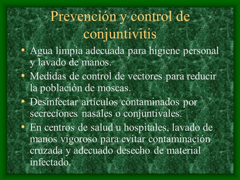 Prevención y control de conjuntivitis