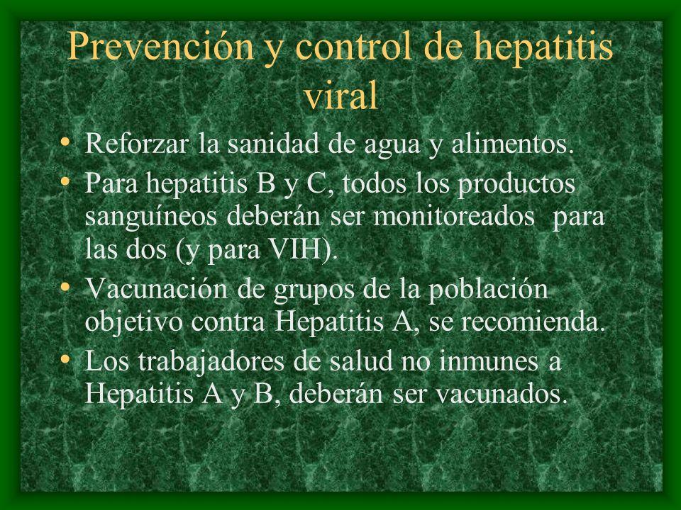Prevención y control de hepatitis viral