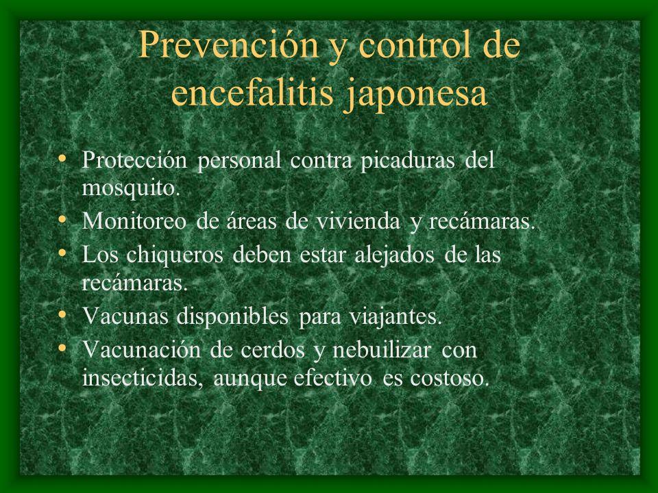Prevención y control de encefalitis japonesa