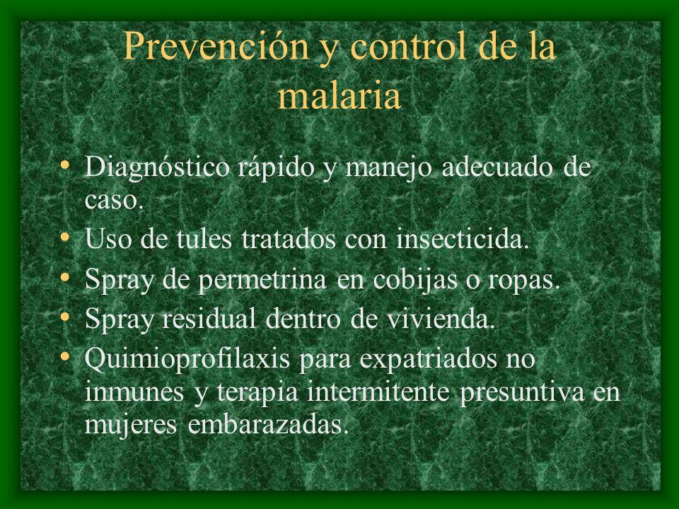 Prevención y control de la malaria